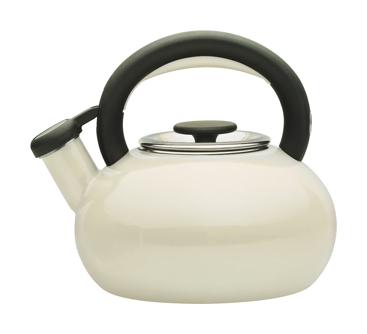 Prestige Enamel Stove Top Kettle 1.4 Litre in Almond